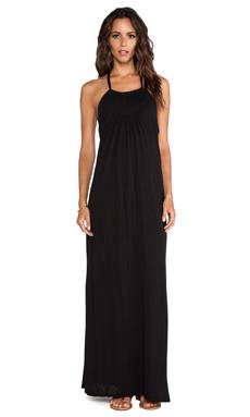 LA Made Halter Maxi Dress in Black