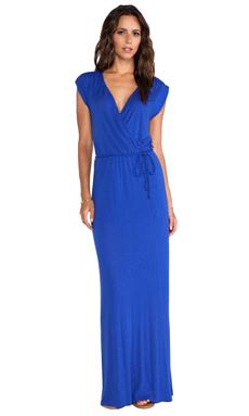 LA Made Wrap Maxi Dress in Scuba