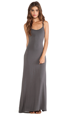 LA Made Cami Maxi Dress in Raven