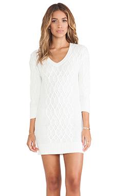 LA Made Sweater Dress in Cream