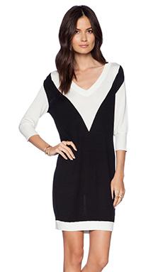 LA Made Sweater Dress in Black & White