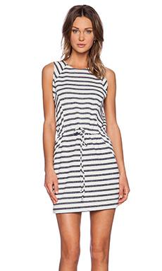 LA Made George Mini Dress in Navy Stripe