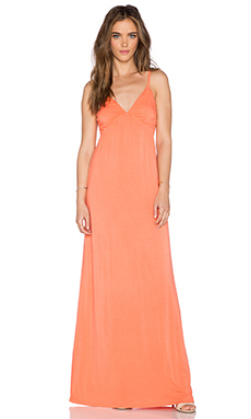 LA Made Lang Maxi Dress in Tang