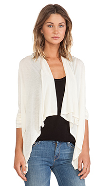 LA Made Draped Front Cardigan in Cream