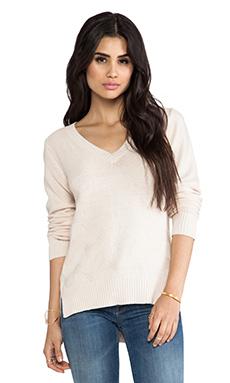 LA Made Side Split Sweater in Seed Pearl