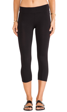 LA Made Lycra Jersey Cropped Legging in Black