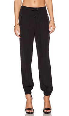 LA Made Zipper Pant in Black