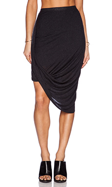 LA Made Layla Drape Skirt in Charcoal