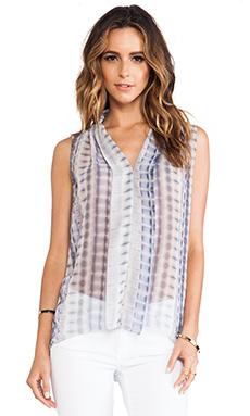 LA Made Shoulder Pleated Top in Batik Print