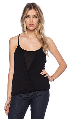La Made Flora Overlay Tank in Black