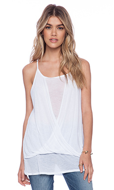 La Made Flora Overlay Tank in White