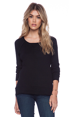 LA Made Thermal Milly Sweatshirt in Black