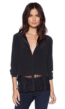 La Made Love Lace Button Up in Black