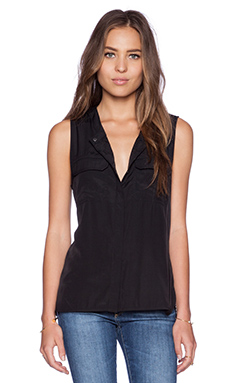LA Made Cargo Blouse in Black