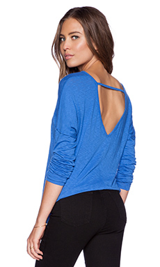 LA Made Zico Drop Shoulder Top in Azul