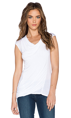 LA Made Toni Drape Top in White