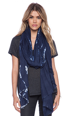 La Made Alligator Dye Scarf in Ink Blot