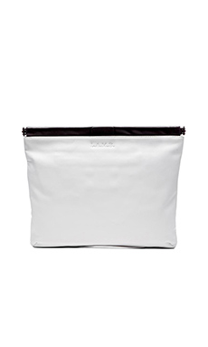 Lamb Fallon Clutch in White & Black