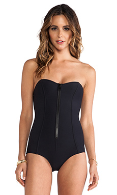 Lisa Marie Fernandez Leigh Maillot in Black Neo