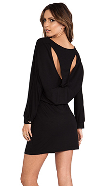Lanston Cutout Racerback Mini Dress in Black