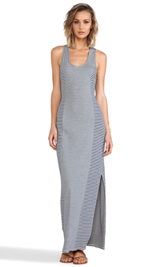 Lanston Racerback Maxi in Double Face Stripe