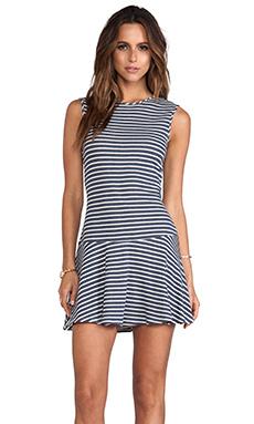 Lanston Drop Waist Dress in Stripe