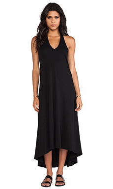 Lanston Hi Lo Maxi Dress in Black