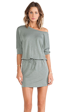 Lanston Boyfriend Mini Dress in Moss