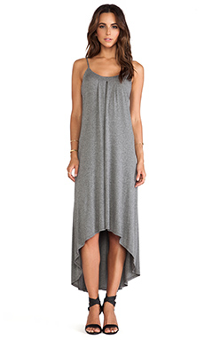 Lanston Hi Lo Maxi Dress in Black & Grey