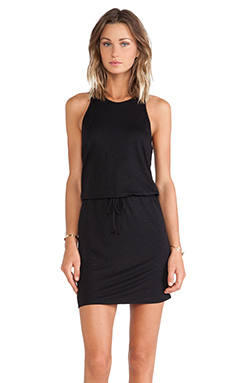 Lanston Halter Tank Dress in Black