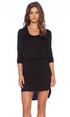 Lanston Scoop Long Sleeve Dress in Black