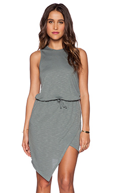 Lanston Asymmetrical Dress in Moss