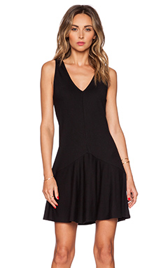 Lanston Drop Waist Dress in Black