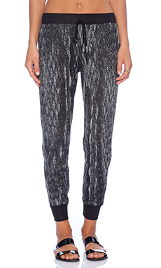 Lanston Boyfriend Pant in Black & White
