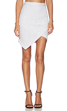 Lanston Asymmetrical Skirt in White