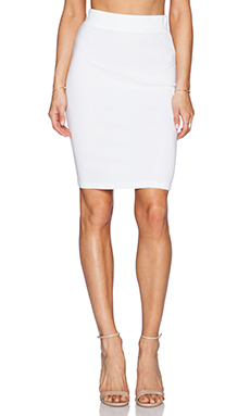 Lanston Pencil Skirt in White