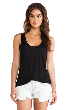 Lanston Layered Cutout Tank in Black