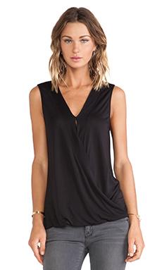 Lanston Surplice Short Sleeve in Black