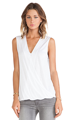Lanston Surplice Short Sleeve in White