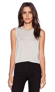 Lanston Cross Over Crop Tank in Heather