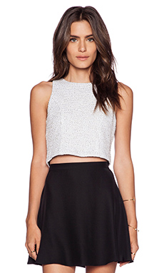 Lanston Panel Crop Top in White