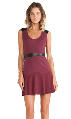 LaPina Lucy Mini Dress in Oxblood
