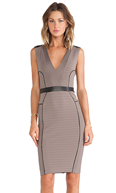 LaPina Kimberly V Neck Dress in Spice