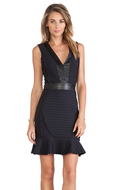 LaPina by David Helwani Lila Dress in Midnight