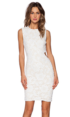 LaPina by David Helwani Blake Dress in White