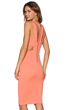 LaPina by David Helwani Sydney Dress in Soft Coral
