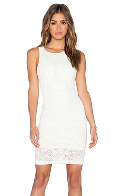 LaPina by David Helwani Brynn Dress in Cream & Nude