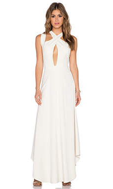 LaPina by David Helwani Sloan Dress in Cream
