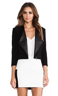 LaPina by David Helwani by David Helwani Monica Jacket in Black/Black Leather
