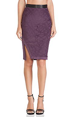 LaPina by David Helwani Valentina Skirt in Plum